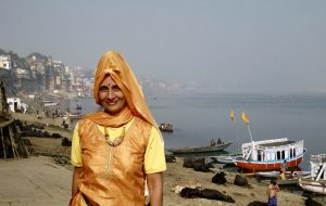 Becca on Ganges ghats, Varanasi – Version 2