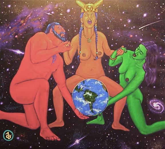 Mars and Venus help Pachamama birth a new Earth in Born Again