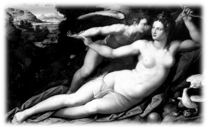 Venus and Cupid, by Alessandro Allori (1535-1607)