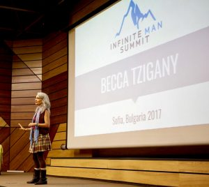 Becca presents at Infinite Man Summit