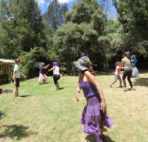 Dancing, Becca at Bee Farm