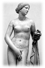 Aphrodite of Cnidus by Praxiteles (4th c. BCE).
