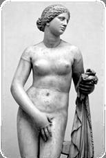 Aphrodite of Cnidus by Praxiteles (4th c. BCE).