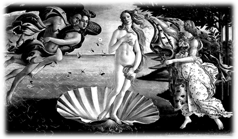 The Birth of Venus (1485) by Sandro Botticelli