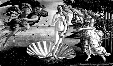 The Birth of Venus (1485) by Sandro Botticelli