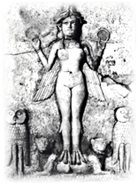 Queen of the Night (relief), ancient Babylonia (3000-2000 BCE)
