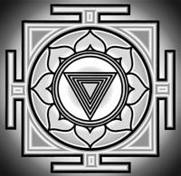 Kali Yantra, Hindu symbol of the goddess, used for meditation and devution
