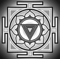Kali Yantra, Hindu symbol of the goddess, used for meditation and devution