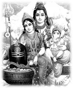 Parvati & Shiva with son