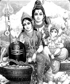 Parvati & Shiva with son