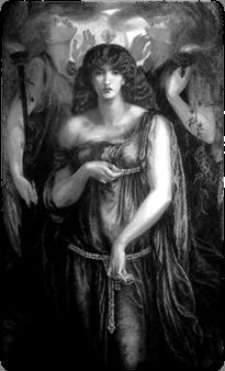 Astarte Syriaca (1877), detail, by Dante Gabriel Rossetti