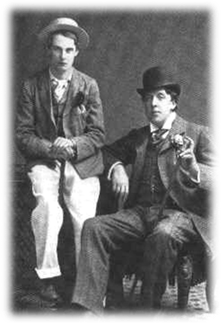 Oscar Wilde (on right) with his lover Alfred Douglas, before the trial, 1894