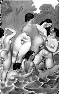 Scène erotique(1835) by Peter Fendi