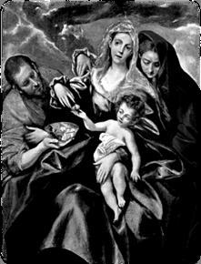 La Sagrada Familia (1595) by El Greco